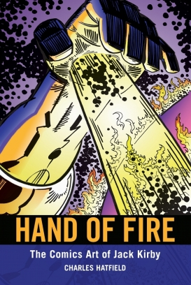 Hand of Fire by Charles Hatfield, cover image by Geoff Grogan