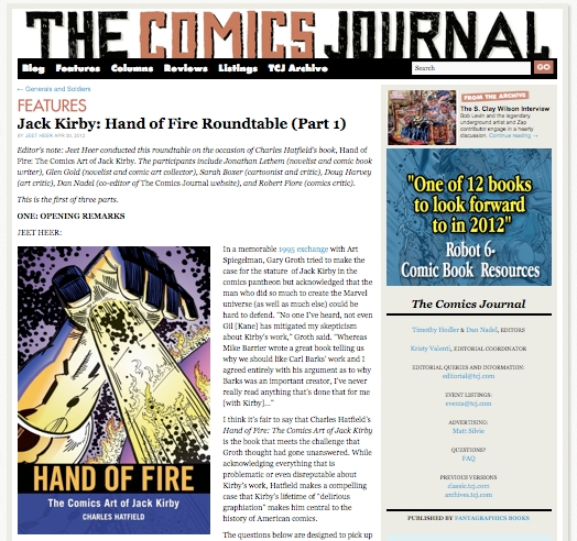 Hand of Fire Roundtable @ TCJ