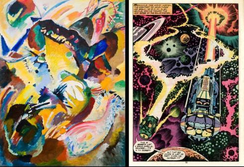 Kandinsky, meet Kirby (courtesy of Andrei Molotiu's Abstract Comics blog)