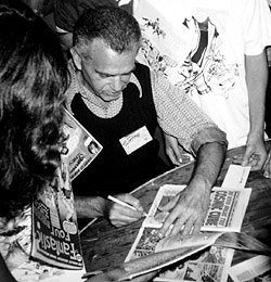 Jack Kirby signing at Comic-Con, 1976, courtesy of The Jack Kirby Museum