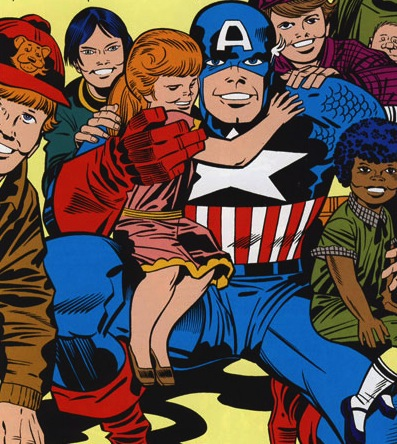 A moment of joy and optimism, from Captain America's Bicentennial Battles (1976)