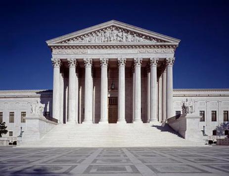 US Supreme Court Building, photo by Carol M. Highsmith, from the Library of Congress