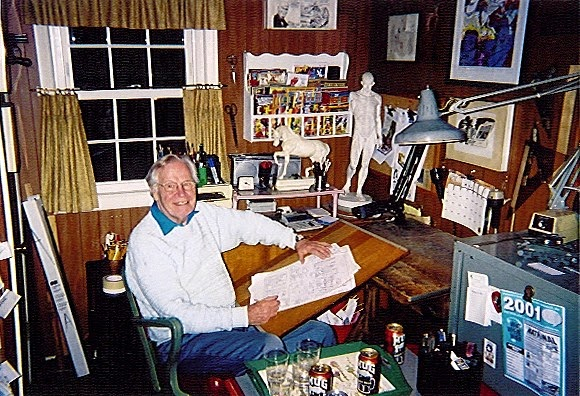 Ayers in his studio, by Blake Bell