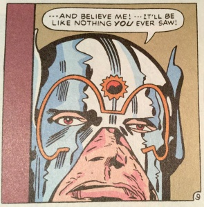 Orion tells it like it is, from NEW GODS #10 (Aug. 1972)
