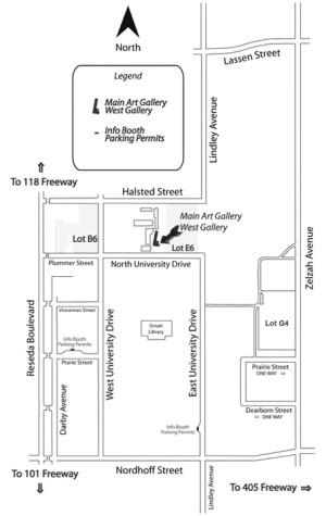 Map to CSUN Art Galleries