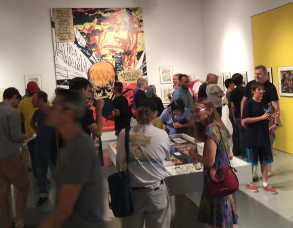 Saturday, Sept. 26, in the Gallery (catalog signing day). Why, yes, that is Diana Schutz, foreground right!