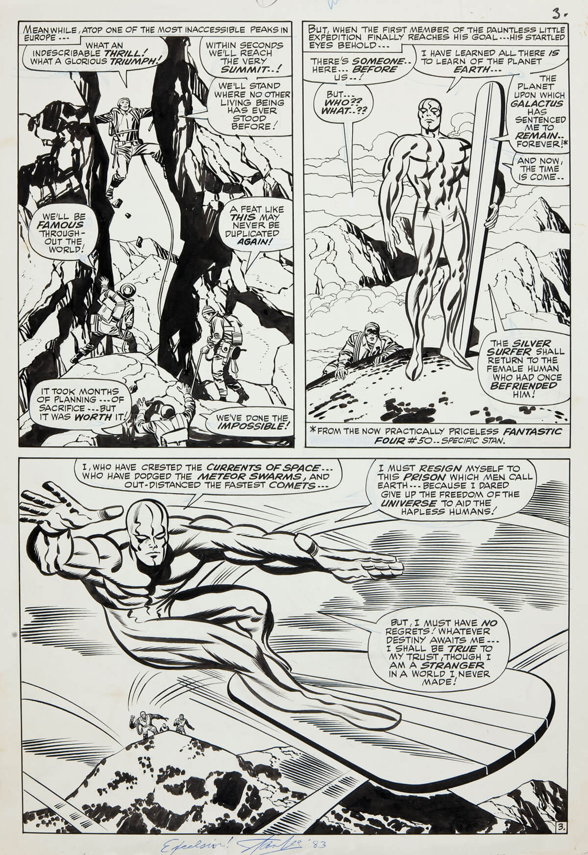 FF 55 page inked by Sinnott