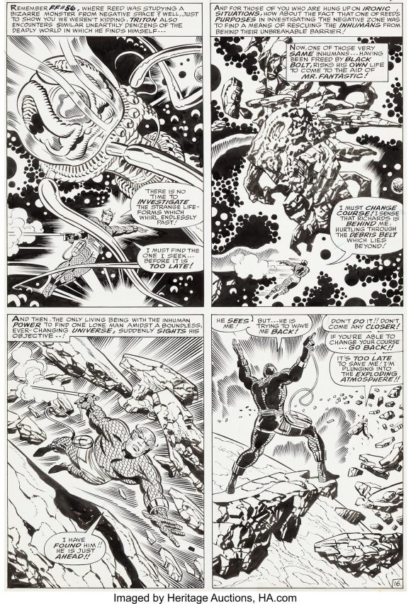 FF 62 page inked by Sinnott