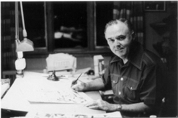 Joe Sinnott at work
