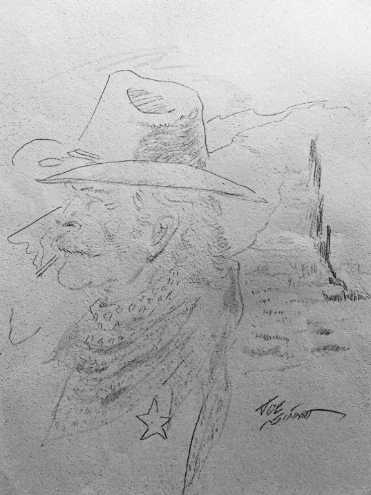 Joe Sinnott''s last sketch: a cowboy